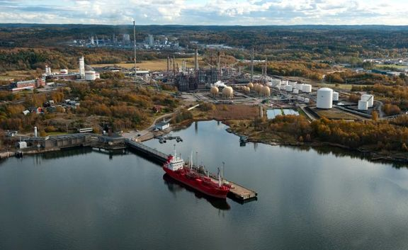 Fire incident breaks out at Borealis in Stenungsund, Sweden.