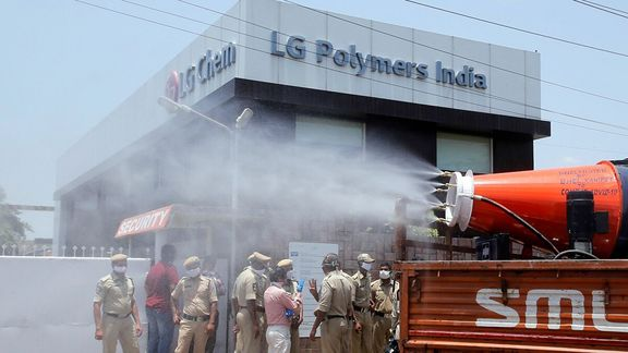 Gas leak at LG Polymer India contained, may slow styrene demand.