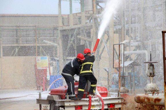 برگزاری رزمایش عملیات اطفاء TK 4012 هگزان در پتروشیمی امیرکبیر