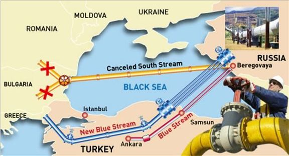 Turkey's purchase of Russian gas drops by 62% year-on-year.